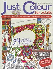 JUST COLOUR FOR ADULTS No.2  ~ Adult & Older Children colouring book Great Gift