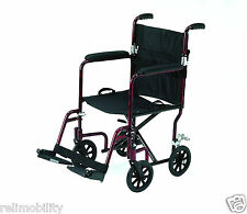 Roma Medical Foldaway Lightweight Aluminium Attendant Transit Wheelchair 1247