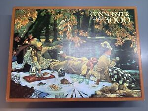 CONNOISSEUR JIGSAW PUZZLE - THE PICNIC by TISSOT.- 3000 pieces. Completed