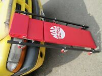 GARAGE CLEAR OUT MAC TOOLS CREEPER - 6 WHEEL CREEPER RED USED ONCE