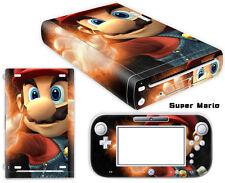 Nintendo Wii U Skin Sticker Decal Cover Vinyl Protector SUPER MARIO 002