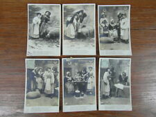 6 x CPA POSTCARDS POSTKARTE / IL PLEUT BERGERE cartes photos 1905 AS COMPLET