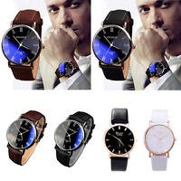 Luxury Brand Men Watch Women's Watch PU Leather Watch Analog Quartz Watch Wrist