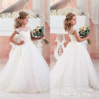 OSEPE White Ivory Flower Girl Dress Communion Birthday Party Bridesmaid Dresses
