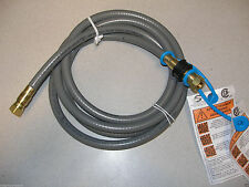"Larger Gas Grill 1/2""  Natural Gas Quick Disconnect Hose & Brass Fitting New"