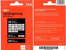 FACHHÄNDLER HD+ plus Verlängerung HDTV HD Empfang für 12 Monate *alle Karten*