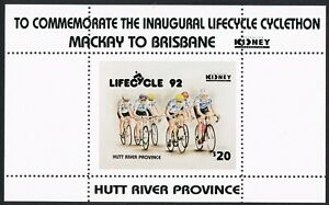 PRINCIPALITY OF HUTT RIVER 1992 $20 STAMP MINISHEET - A SCARCE MICRONATION ISSUE
