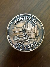 Round Montreal Canada Expo 67 Olympic Stadium Quebec Unisex Men's Belt Buckle