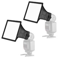 Neewer 2pcs Flash Gun Softbox Diffuser Kit for Canon Nikon Yongnuo Speedlite