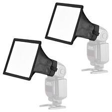 Neewer 2pcs Flash Gun Softbox Diffuser Kit for Canon Nikon Yongnuo Speedlite