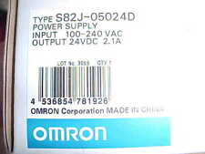 OMRON S82J-05024D METAL CASED DIN RAIL MOUNT POWER SUPPLY
