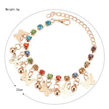 Cute Children multicolor Butterfly Charm Bracelet For Girls Kids Hand Chain Gold