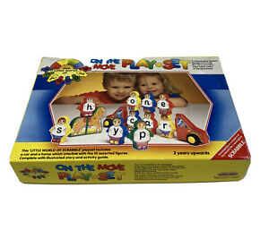 1986 THE LITTLE WORLD OF SCRABBLE LEARNING IS FUN PLAYSET ON THE MOVE - Complete