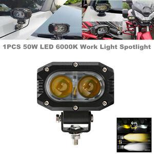 1PCS 50W LED Work Light Spotlight Fog Driving Motorcycle Off Road Lamp Headlight