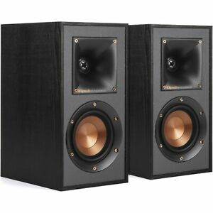 New Open Box Klipsch R-41M Bookshelf 200W Speaker - 2 Pieces, Black
