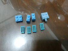 Non-Lego LOT of Bricks - Light / Sky blue Color 8 pieces - Check Below