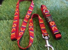 Special price colourful handmade collar and lead set larger puppy  s / m dog
