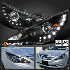 For 2011-2014 Sonata Black SMD LED Daytime Running DRL Projector Headlights