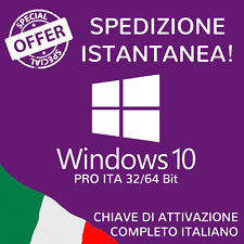 ✔ Microsoft Windows 10 Pro 32-64bit ✔ Sistema Operativo DIGITALKEY 100%ORIGINALE