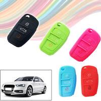 Car Key Silicone Remote Holder Case Cover for AUDI A2 A3 A4 A6 TT Q7 R8 Q5 1pc