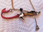 GORGEOUS SEA WITCH MERMAID PAGAN WICCAN Broom Blessing  NECKLACE HALLOWEEN!