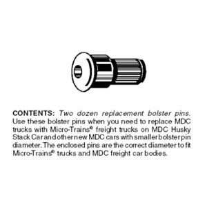 Micro-Trains 00312031 - Conversion Bolster Pins MDC Typel (1039) - 24 each