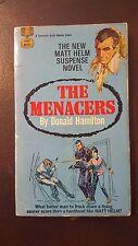 "Donald Hamilton, ""Menacers,"" 1968, Fawcett Gold Medal d1884, VG-, 1st"