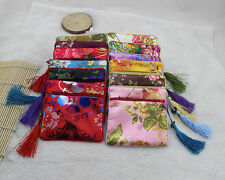 Wholesale10pcs Chinese Handmade Vintage Silk Coin Purse Jewelry Pouch Gift Bag