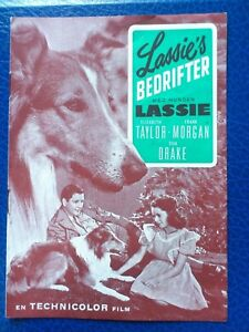 "Danish movie program.""Courage of Lassie"" 1953.Elizabeth Taylor.Frank Morgan."