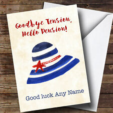 Funny Hello Pension Bye Tension Personalised Retirement Card