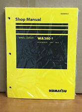 Heavy equipment manuals books for komatsu wheel loader ebay komatsu wa380 7 wheel loader shop service repair manual fandeluxe Images