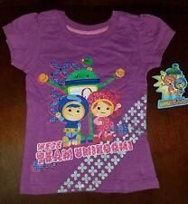 Team Umizoomi Purple Toddler Girl Shirt Top New 4T