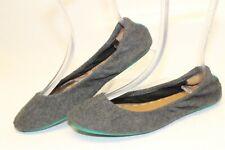 Tieks by Gavrielli Womens 9 Gray Wool Fleece Casual Ballet Flats Slip On Shoes
