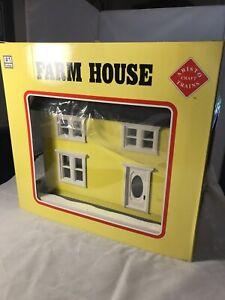 Vintage Aristo-Craft #1 Gauge Scale Farm House - Yellow / White Rare MIB Tr62