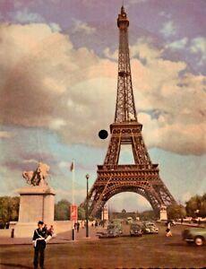 CARTOLINA SONORA - PHONOSCOPE LA CARTE MUSICALE - JULIE LA ROUSSE PARIS EIFFEL