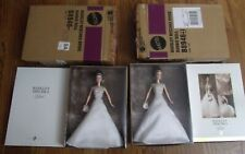 Lot of 2 2004 Badgley Mischka Bride Barbie Platinum Label & Gold Label