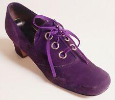 Authentic Vtg 60s / 70s Purple Suede Mod Go-Go Scooter Shoes 8M - larger size!