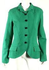 PROENZA SCHOULER Sea Green Cotton Stretch Knit Seamed Detail Jacket 10