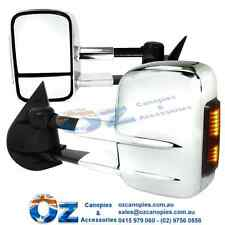 ISUZU MUX Retractable Towing mirror PAIR CHROME w/CLEAR indicator MU-X 2012 ON