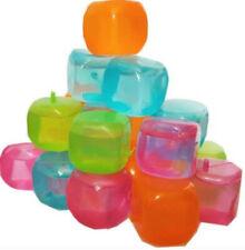 20 X Reusable Plastic Ice Cubes Cold Drinks Bar BBQ Quick Freezing Multicolour