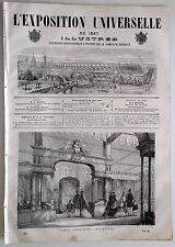 L'Exposition Universelle Illustrée n°40- 1867 : Les étoffes de Paris Faïences