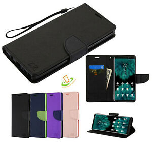 For LG 2020 Phone Wallet Case Leather Flip Cover Card Slot Pouch w/ Strap Stand