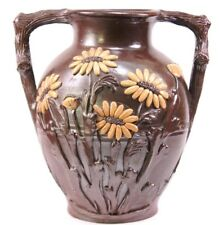Large Vintage French Art Pottery Vase by Turgis Pottery Calvados France