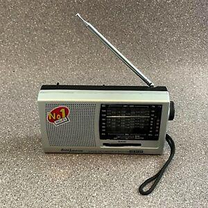 Portable Borg Johnson 12 Band World Receiver Radio, FM TV MW, LW, SW1-9, Tested