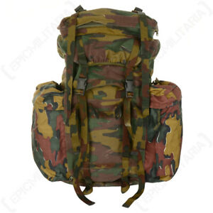 Original Belgian Army Military 120L M97 Camo Rucksack Backpack - Camping Hiking