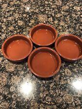 4x terracotta tapas dishes