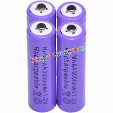 4 AA 3000mAh Ni-MH rechargeable battery cell /RC Purple