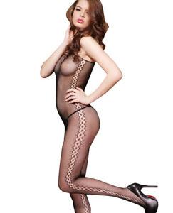 Fishnet Bodystocking Body Stocking Open Crotch Lingerie Babydoll Plus Size 6-24