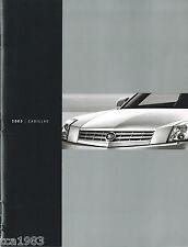 2003 Cadillac Brochure / Catalog:Xlr,Srx,Cts,Escal ade,Ext,Esv,Seville,Devill e,
