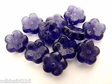 25 8 X 3 Mm Flat Flower Beads Tanzanite